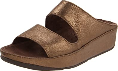 3a42fdabcc52 FitFlop Lolla Crackle Womens Bronze Leather Size New Display UK 9 ...