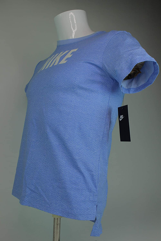 Nike Girls Athletic Tee Shirt Graphic Blue