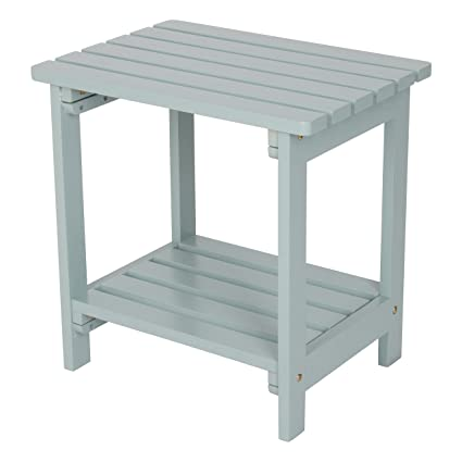 Shine Company Rectangular Side Table, Dutch Blue