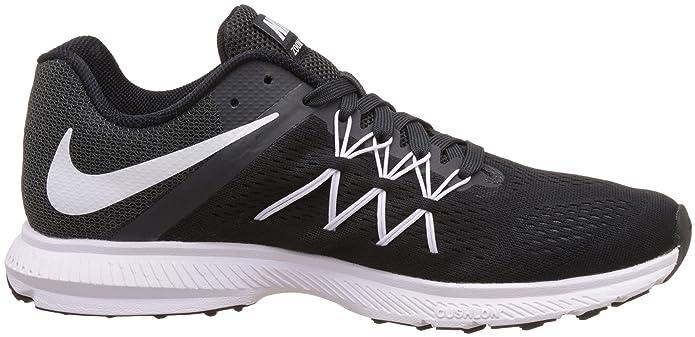 finest selection 3da49 e2407 ... australia nike mens air zoom winflo 3 running shoe black white  anthracite 13 dm us buy