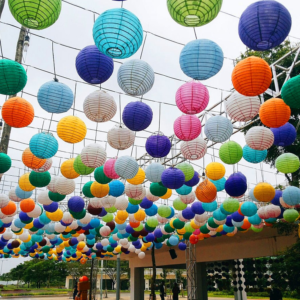 Miayon 20PCS Paper Lanterns, (Random Color 5 Sizes), Hanging Decorations for Home Parties, and Weddings,Baby Shower by Miayon (Image #6)