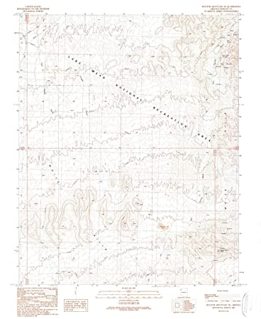 Amazon.com: Arizona Maps | 1989 Senator Mountain, AZ USGS Historical ...