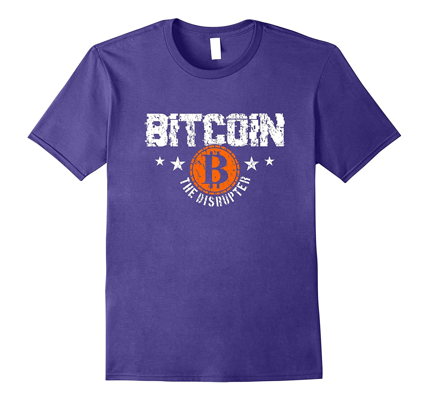 Bitcoin The Disrupter distressed look Tshirt-TJ