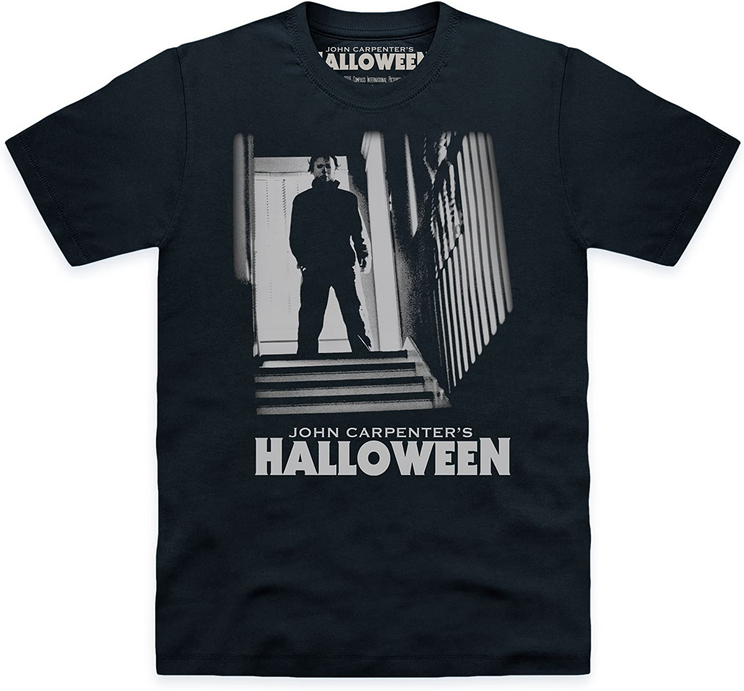 Official Halloween Camiseta Michael Myers Stairs, para Hombre: Amazon.es: Ropa y accesorios