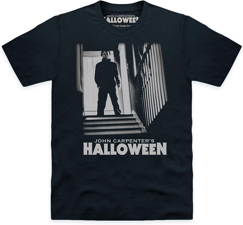 Official Halloween Camiseta Michael Myers Stairs, para Hombre: Amazon.es: Ropa y accesorios