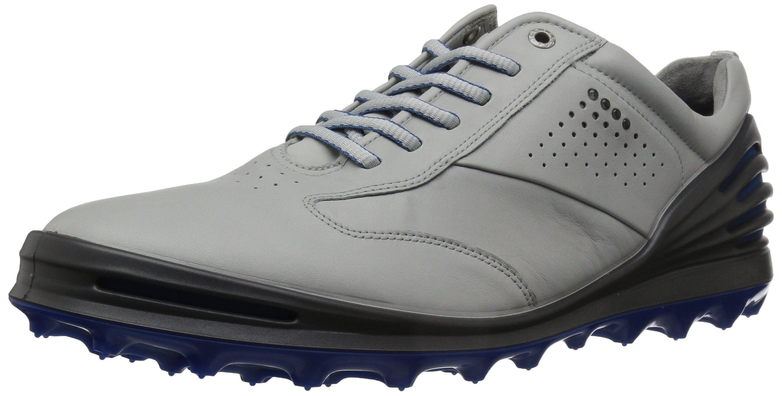 ECCO Men's Cage Pro Golf Shoe, Concrete/Bermuda Blue, 39 M EU / 5-5.5 D(M) US