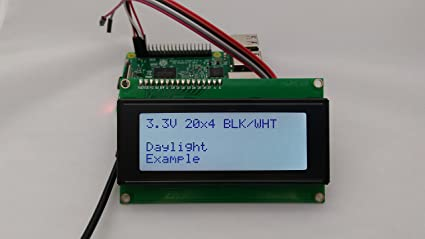 Amazon com: SPI I2C UART 20x4 LCD Black Text, White Background