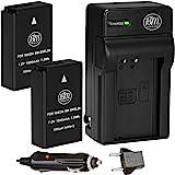 BM Premium 2 Pack of ENEL20, EN-EL20A Batteries and Battery Charger for Nikon Coolpix P1000, DL24-500, Coolpix A, 1 AW1, 1 J1