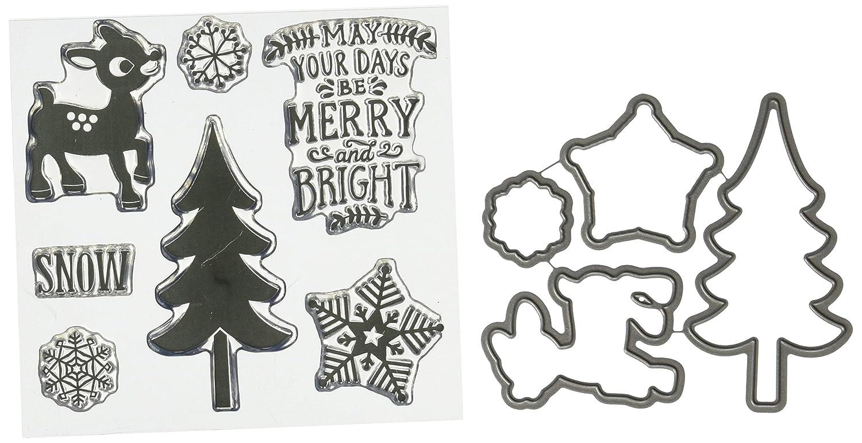 Echo Sello Park Paper Metal Die Sello Echo Combo Set-Merry y Brillante 01736d