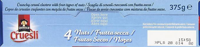 Quaker - Cruesli Nuts 375 g - [pack de 3]: Amazon.es: Alimentación y bebidas