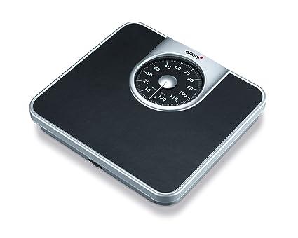Korona Mika Báscula de baño mecánicas - analógica, escala hasta 130 kg, intervalos en