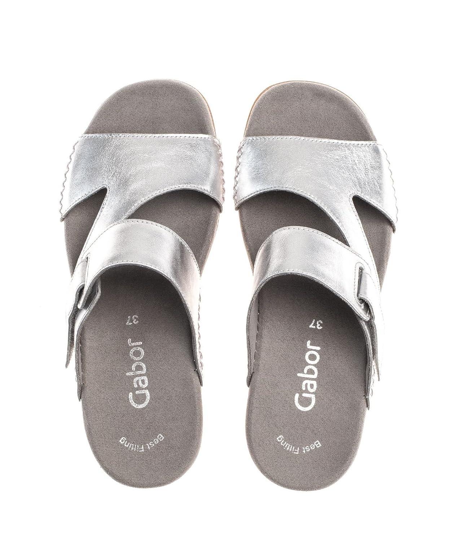 Gabor Damen Pantolette Silber Jollys Aus Nubukleder von Größe 37 bis 42   Amazon.de  Schuhe   Handtaschen 0bc5b6c176