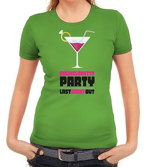 Junggesellenabschieds JGA Hochzeit Damen T-Shirt Martini - Bachelorette  Party, Größe: S,