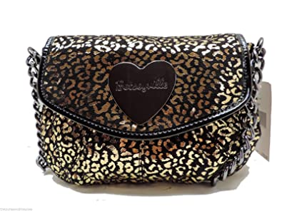 81867a411 Image Unavailable. Image not available for. Color: Betsey Johnson Cheetah  Ruff Crossbody