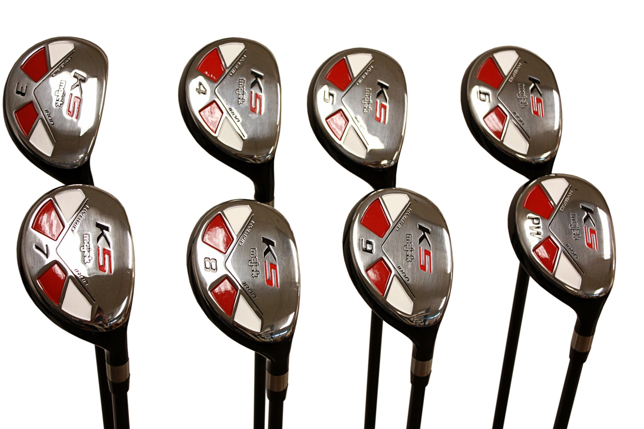 "Senior Men's Majek Golf All Hybrid Complete Full Set, which includes: #3, 4, 5, 6, 7, 8, 9, PW Senior Flex Total of 8 Right Handed New Rescue Utility ""A"" Flex Clubs by Majek (Image #5)"