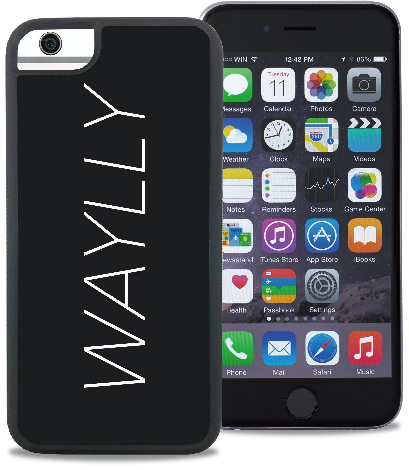 WAYLLY ウェイリー iPhoneケース iPhone 6/6s/7/8 対応 どこでもくっつく 耐衝撃 (LOGO WHITE)