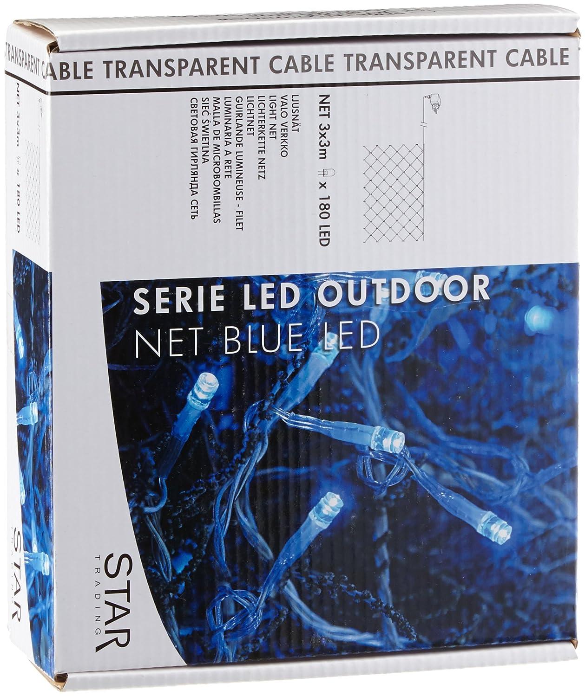Best Season 499-79 - Red de luces LED, 180 piezas, 3 unidades de 3 m