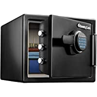 SentrySafe Fireproof Safe and Waterproof Safe with Dial Combination, SFW082FTC