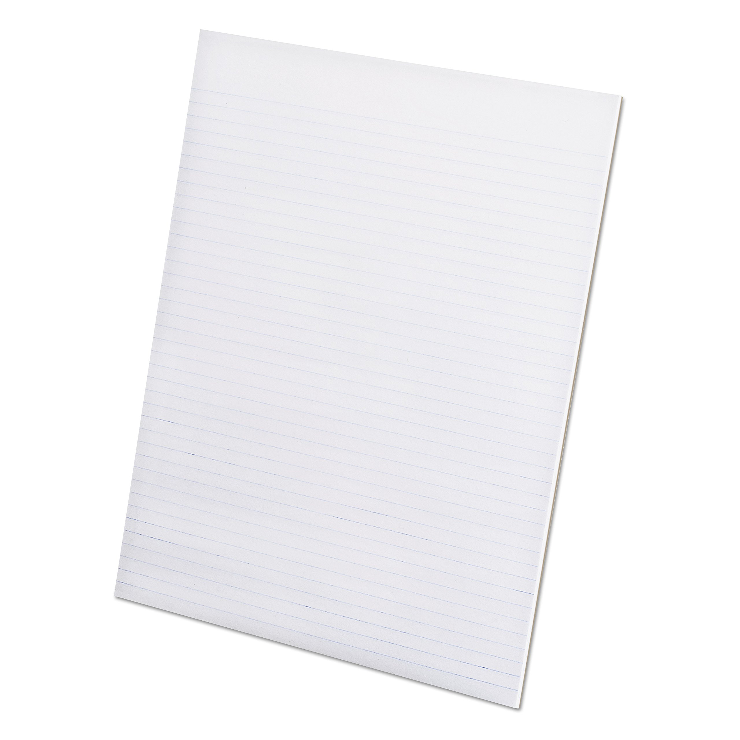 Ampad Evidence Recycled Glue Top 8-1/2 x 11 Pads, Narrow Rule, White, 50 Sheets Per Pad, 12 Pack (21-168) by Ampad
