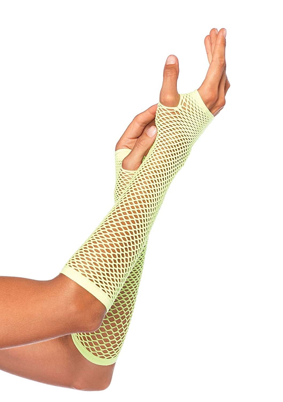 Leg Avenue womens OS Triangle Net Fingerless Gloves Black One Size 202422001