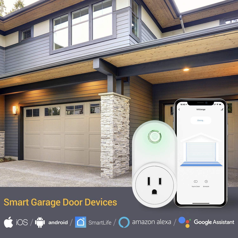 Newoke Smart Wifi Garage Door Opener Remote Smart Life Google Assistant Work With Alexa Garage Door Opener Wireless No Hub Needed Smart Phone App Control Doors Building Materials Ekoios Vn