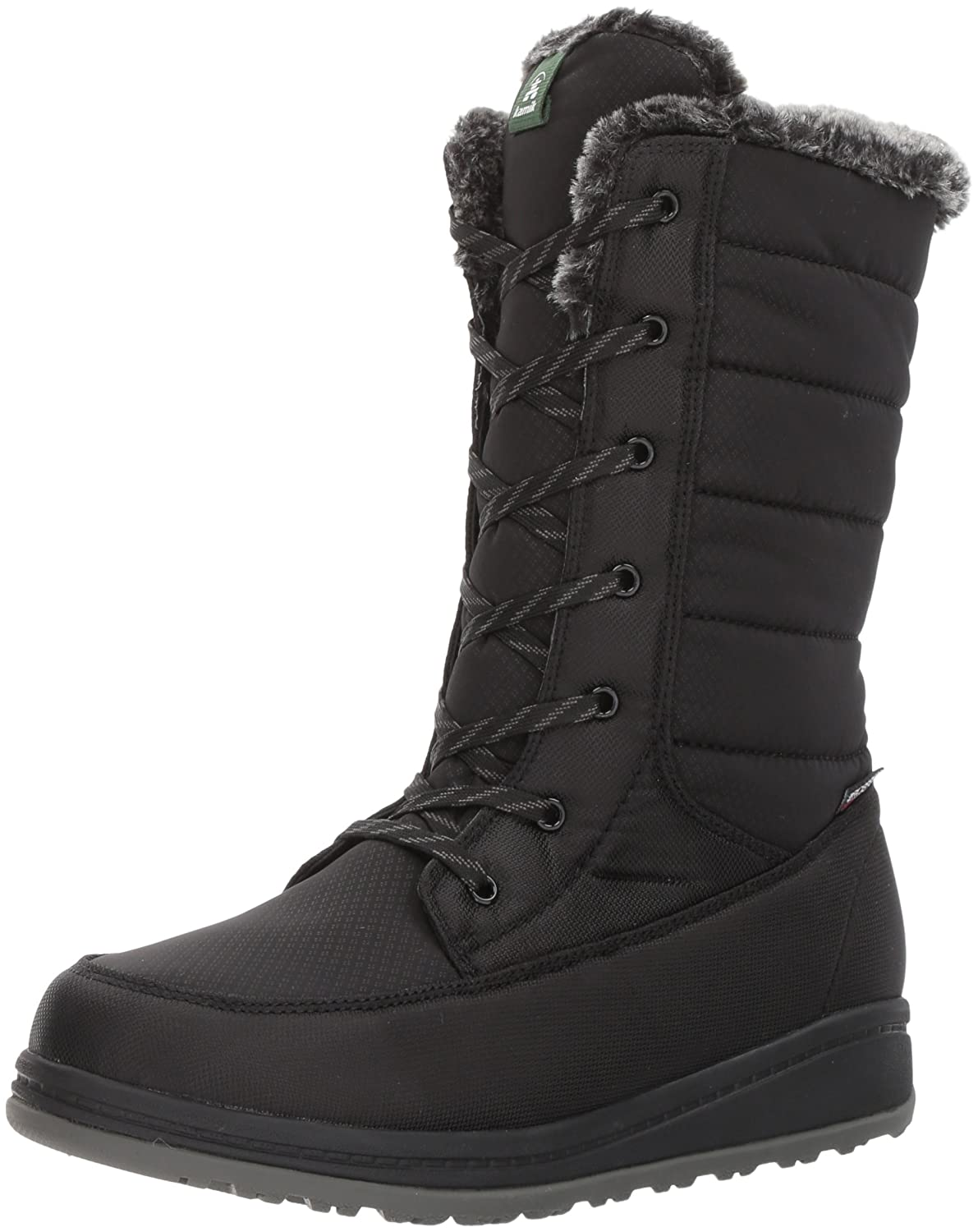 Kamik Women's Bailee Snow Boot B01MU5S8NO 7 D US|Black