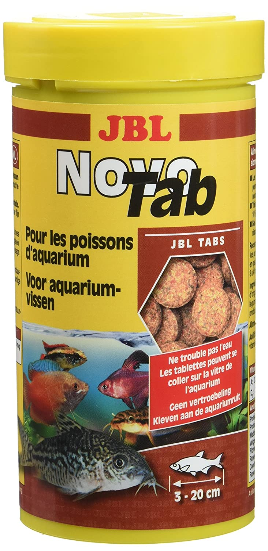 JBL Novo Tab Boîte de 400 Comprimes Nourriture pour Aquariophilie 250 ML - Lot de 2 3024080