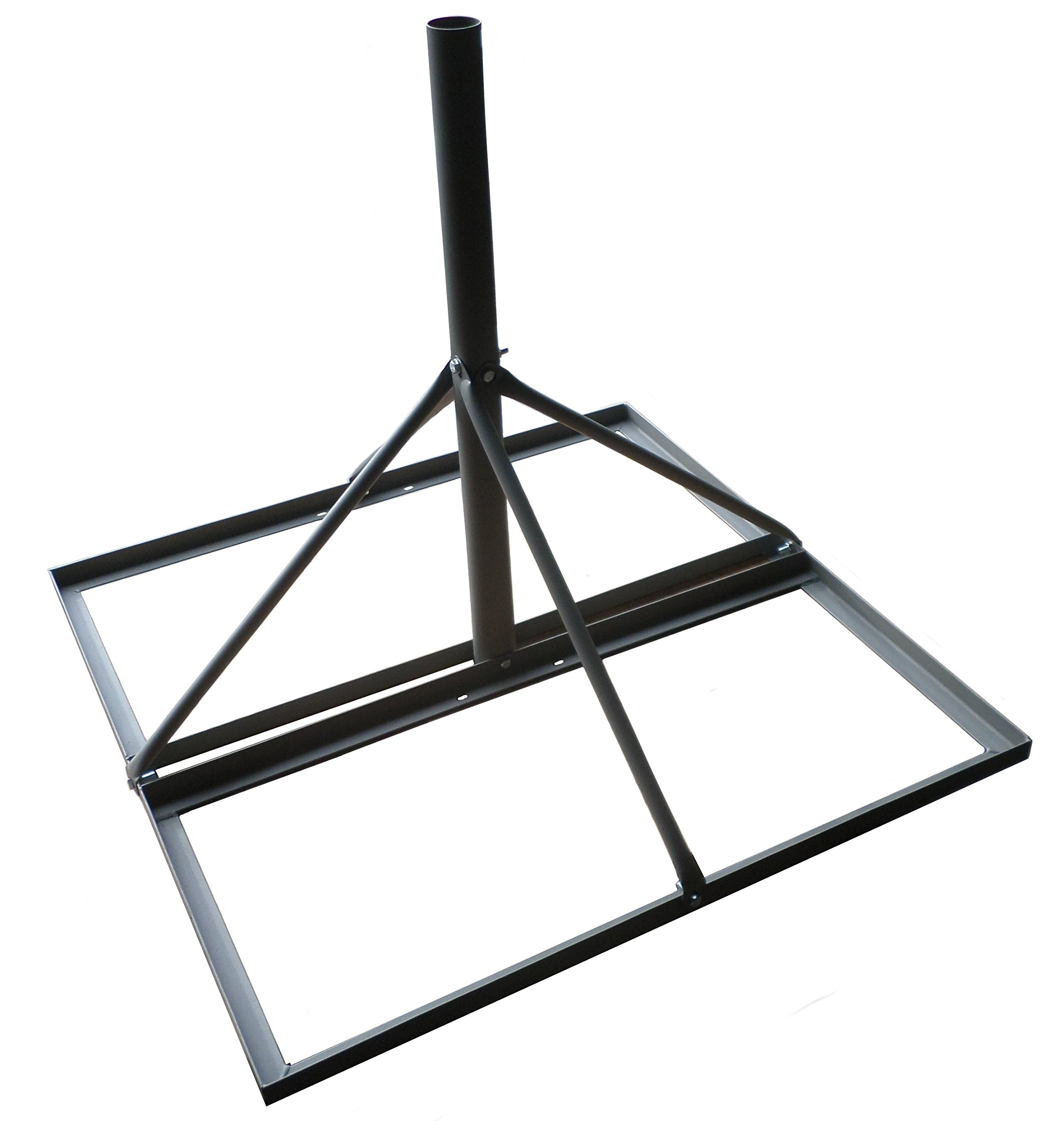 Non-penetrating Roof Mount 35''x35'' Base 30'' Mast 2'' Diameter Gray