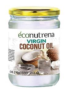 Organic Virgin Coconut Oil 16.9 fl oz (500 ml) - Single Item Glass Jar