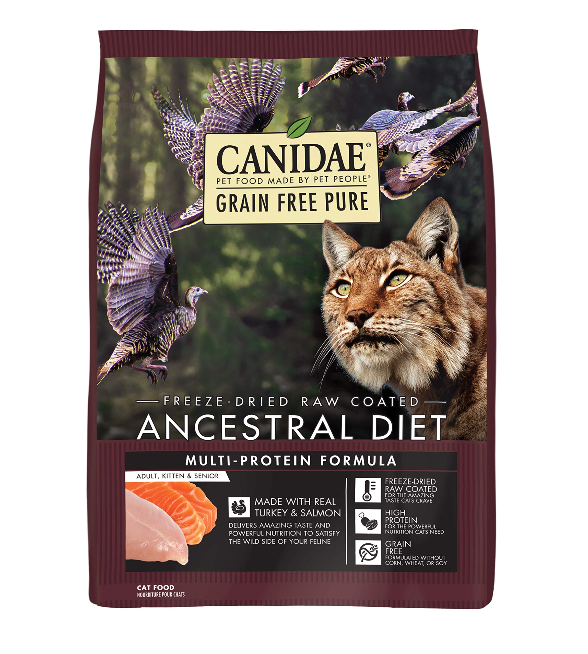 CANIDAE Grain Free Pure Ancestral Diet Freeze-Dried Raw Coated Dry Cat Food, 2.5-Pound, Purple by CANIDAE