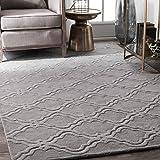 Amazon Com Nuloom Daza Hand Tufted Wool Area Rug 5 X 8 Grey Furniture Decor