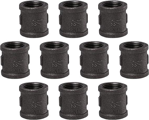 """los codos y Tees Negro de hierro maleable 3//4/"""" roscado de tubería accesorios Fontanería 10 10"""