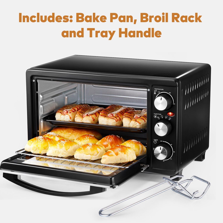 3/fonctions de cuisson facile /à nettoyer double vitrage de porte de four grille-pain Aicook Mini Four 23L Grill /électrique avec r/églage de la temp/érature 100 230/℃ et 60/minutes Minuteur 1500/W