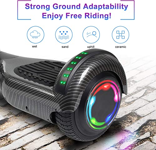 SISIGAD Hoverboard, 6.5 Two-Wheel Self Balancing Hoverboard with Bluetooth Speaker – Street Style