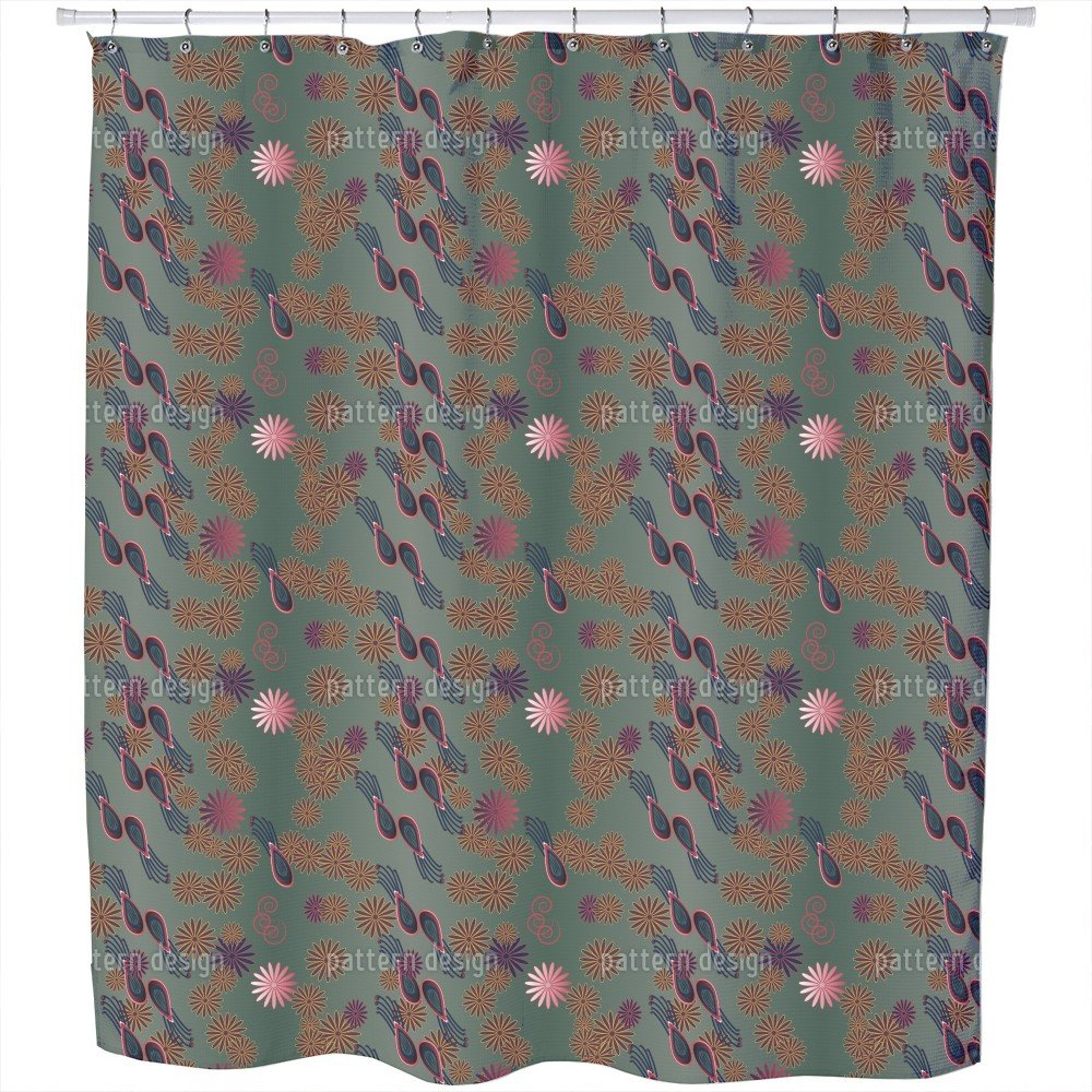 Uneekee Bellies Paradise Romantic Shower Curtain: Large Waterproof Luxurious Bathroom Design Woven Fabric