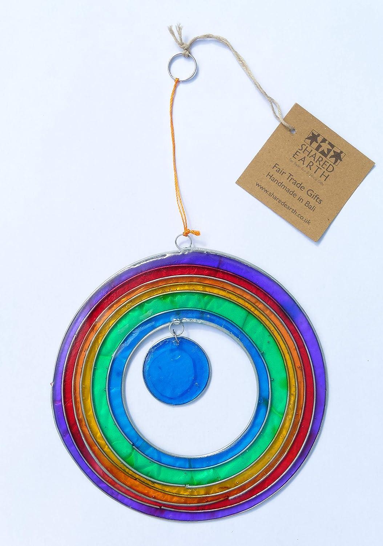 Shared Earth Fair Trade Suncatcher Full Circle Rainbow Sun Catcher With Pendant 13.5 cm