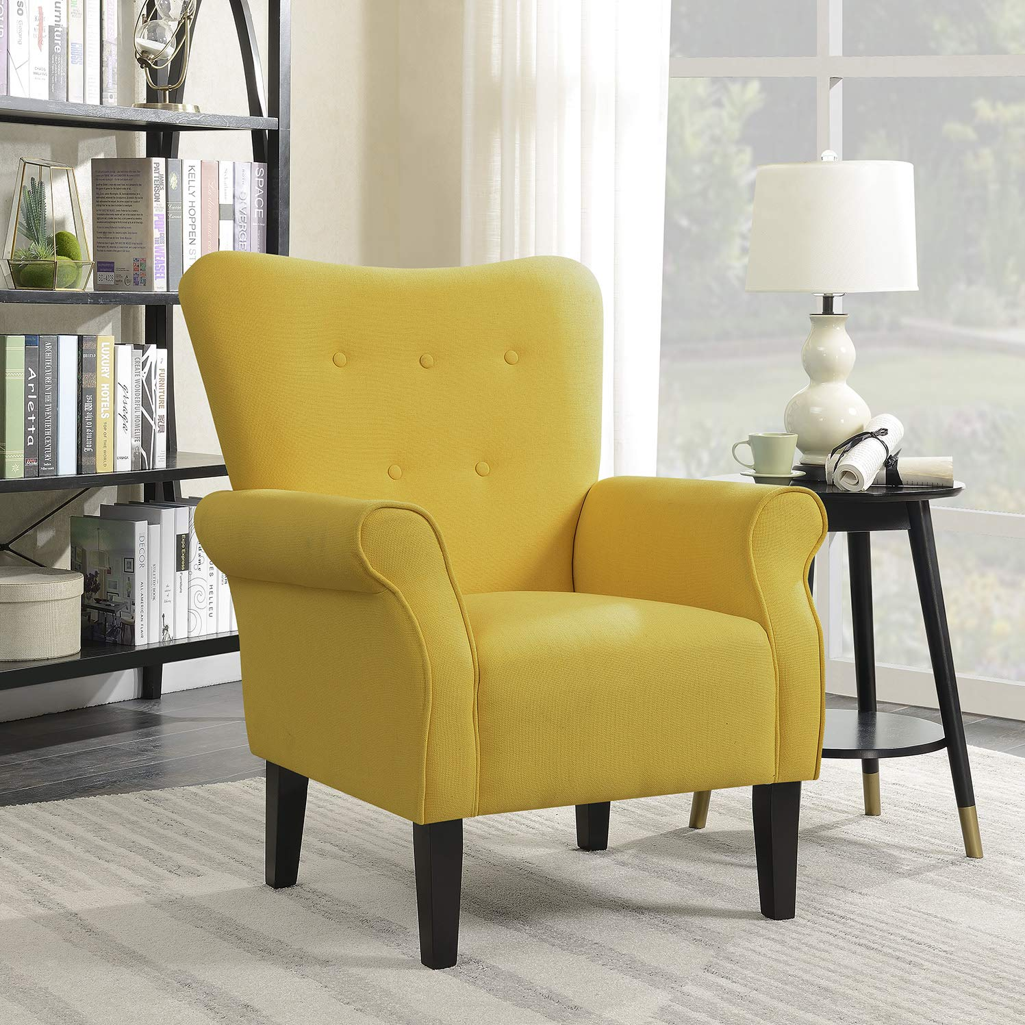 Accent Chairs For Living Room Amazon.com: Belleze 014-HG-30323-CY Accent Chair, Citrine Yellow: Kitchen u0026  Dining