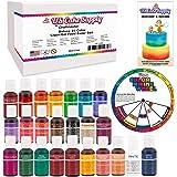 24 Color Cake Food Coloring Liqua-Gel Decorating Baking Primary & Secondary Colors Deluxe Set - U.S. Cake Supply 0.75 fl. oz. (20ml) Bottles