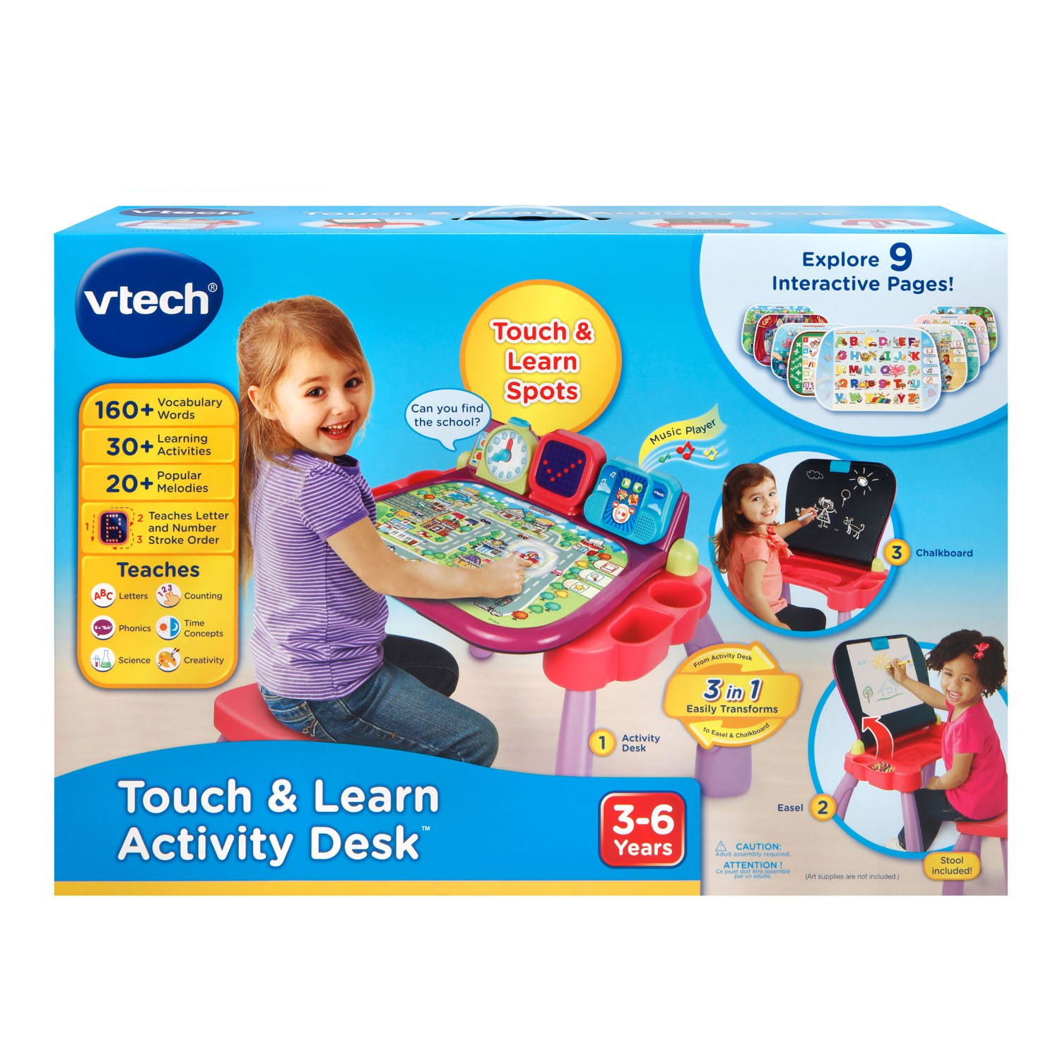 VTech Touch and Learn Activity Desk, Purple by VTech (Image #7)