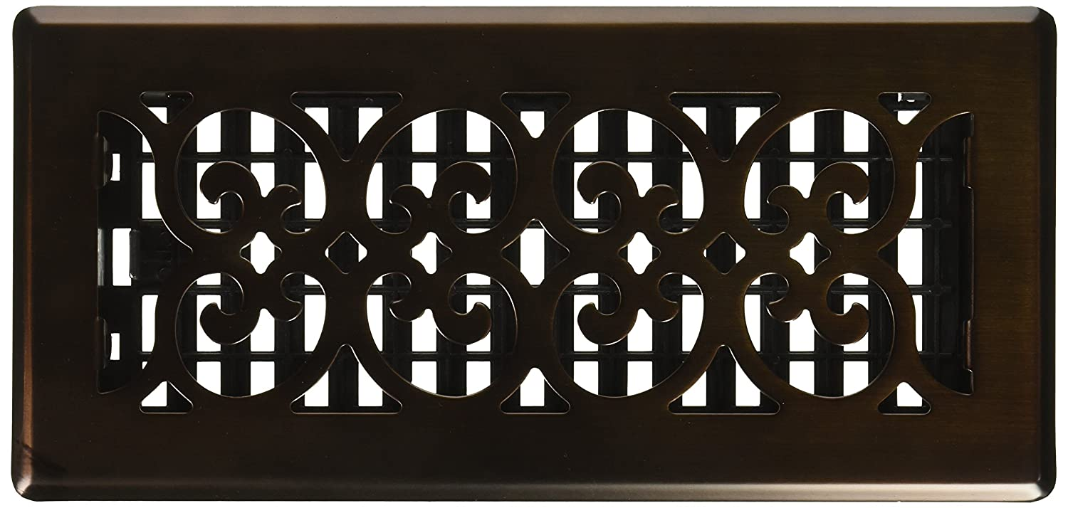 Decor Grates SPH410-RB Scroll Plated Register, 4-Inch by 10-Inch, Rubbed Bronze