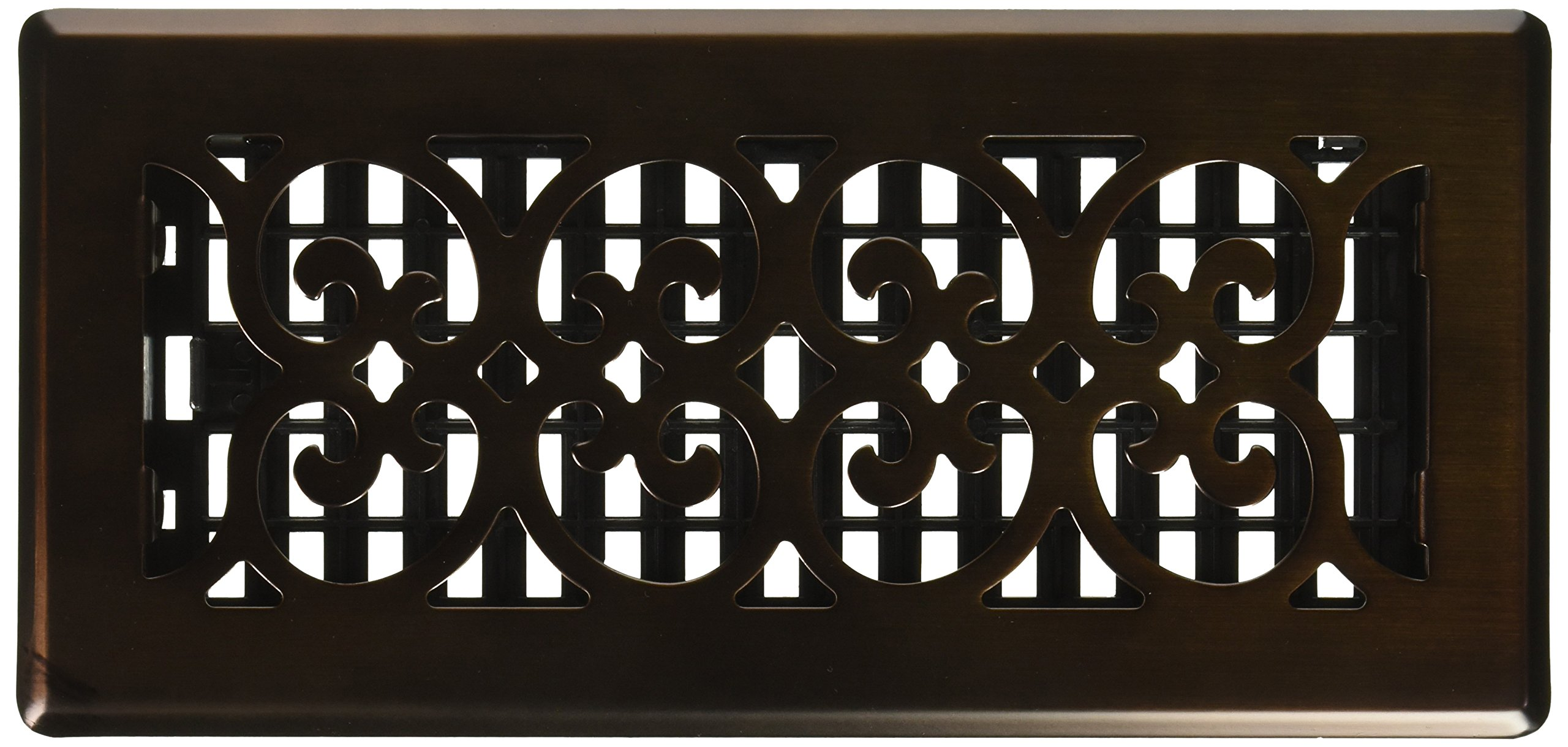 Decor Grates SPH410-RB Scroll Plated Register, 4-Inch by 10-Inch, Rubbed Bronze by Decor Grates