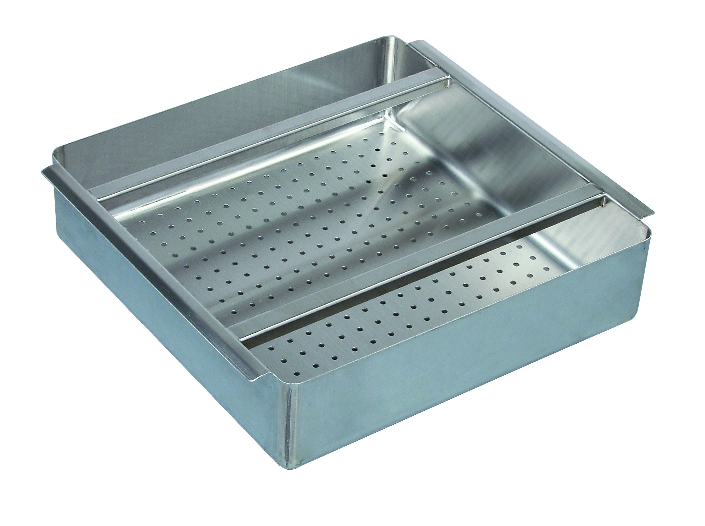 Tarrison PRB2020 Stainless Steel Perforated Pre-Rinse Basket, 20'' Length x 5'' Height x 20'' Depth