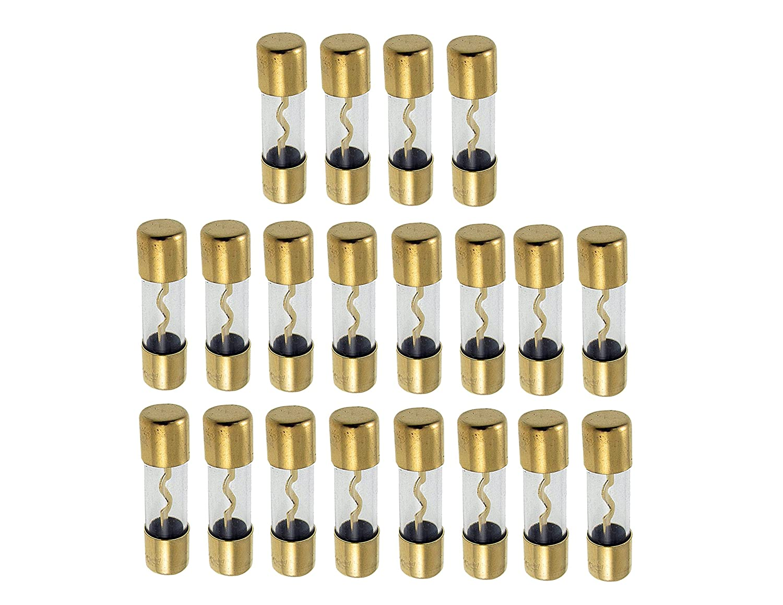 Absolute USA AGU100-20 AGU Gold Standard Glass Fuses 100 Amp 12 Volts Car Stereo Access Absolute USA Inc.