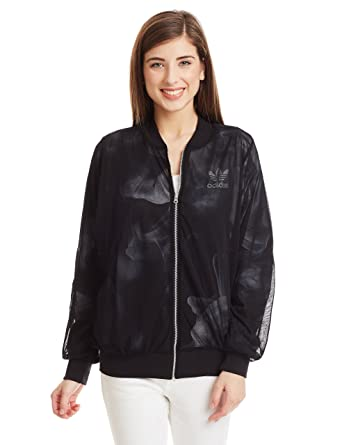 63080881bb88 adidas Originals Womens Womens Rita Ora White Smoke Track Jacket in Black -  10  adidas Originals  Amazon.co.uk  Clothing