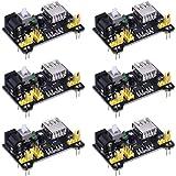 6 Pack Breadboard Power Supply Module for Arduino Board Solderless Breadboard, 3.3 V/ 5 V