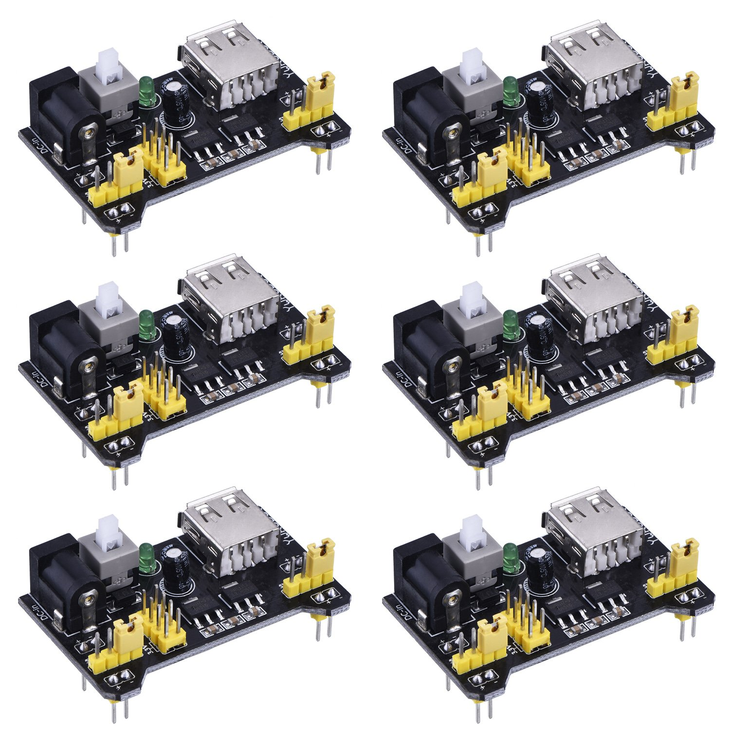 6 Pack Breadboard Power Supply Module For Arduino Board Amazonco 12 Fixing The On Site Electronics