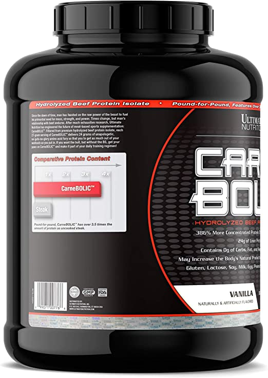 Carne Bolic - Hydrolized Beef Protein Isolate Vanilla 3.57 ...