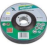 Wolfcraft 1621300 - 5 dischi da taglio per smerigliatrice, 115 x 2,5 mm