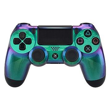 eXtremeRate Carcasa para PS4 Funda Delantera Protectora de la Placa Frontal Cubierta para Mando de Playstation 4 PS4 Slim Pro (CUH-ZCT2 JDM-040 ...