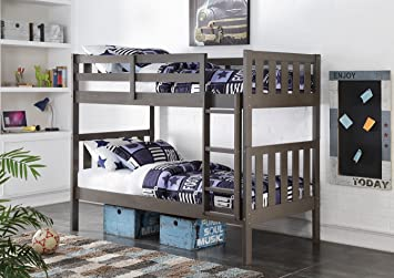 Amazon Com Donco Kids 4300ttsg Louver Bunk Bed Twin Slate Gray